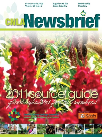 2011 CNLA Membership Source Guide by Canadian Nursery Landscape ... 857a9bdc7034c