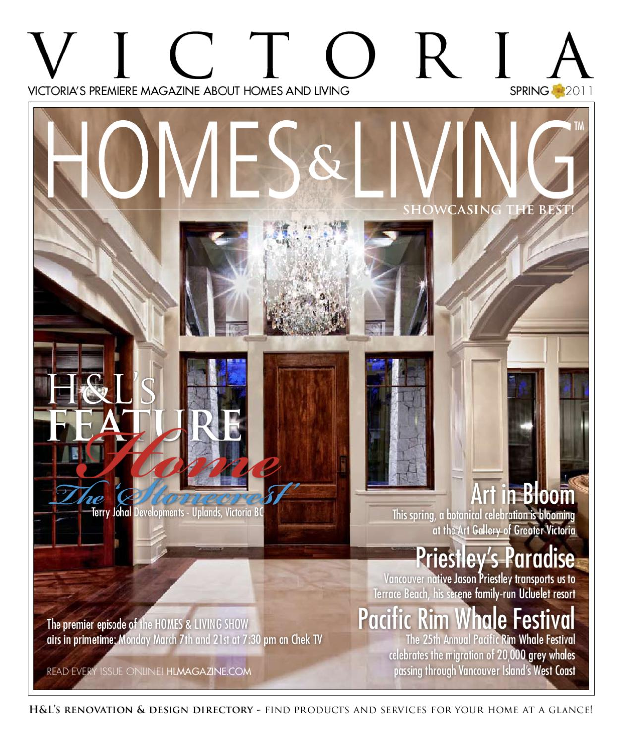 victoria homes living magazine 2011 spring by homes living magazine h l magazine issuu. Black Bedroom Furniture Sets. Home Design Ideas