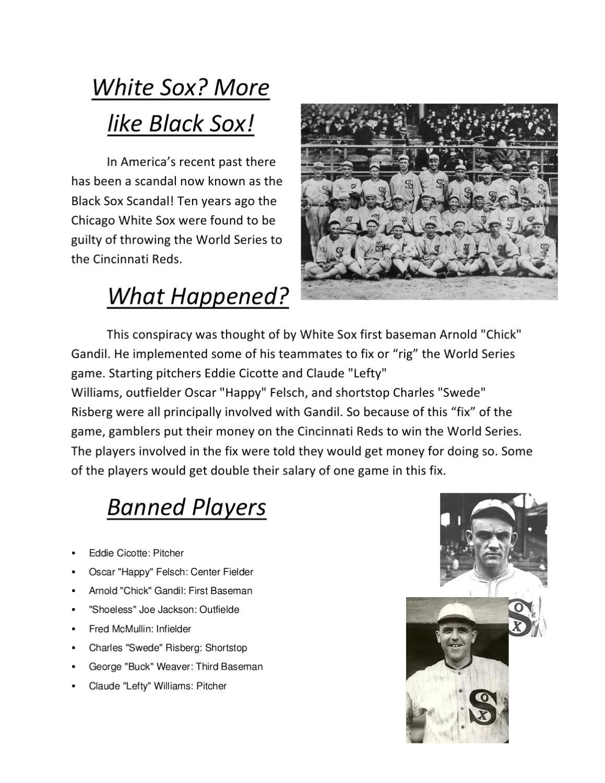 chicago white sox throw world series