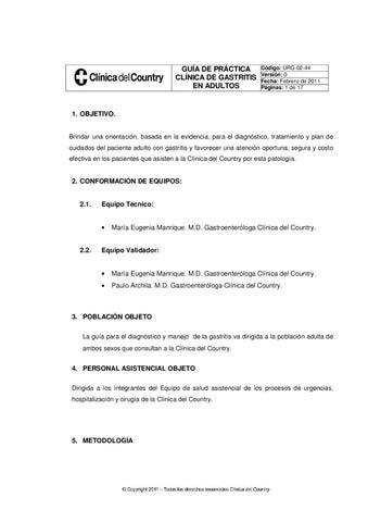 gastritis cronica guia de practica clinica