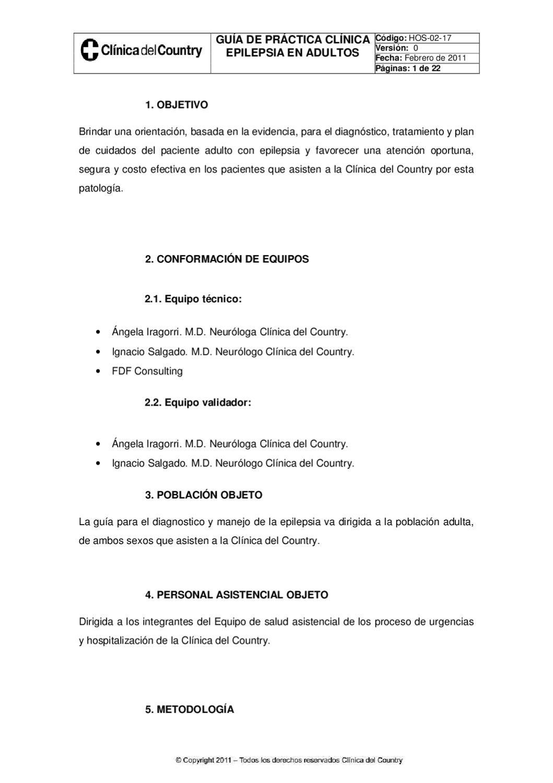 GPC de Epilepsia en adultos by Clínica del Country - issuu