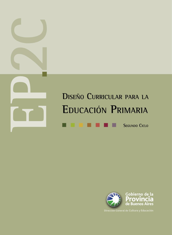 Dise o curricular de la educaci n primaria 2 ciclo by for Diseno curricular de jardin maternal