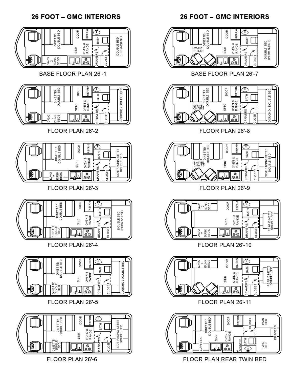 floorplans gmc motorhomes 26 by uscamper eu issuu