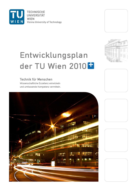 Entwicklungsplan 2010+ by TU Wien - issuu