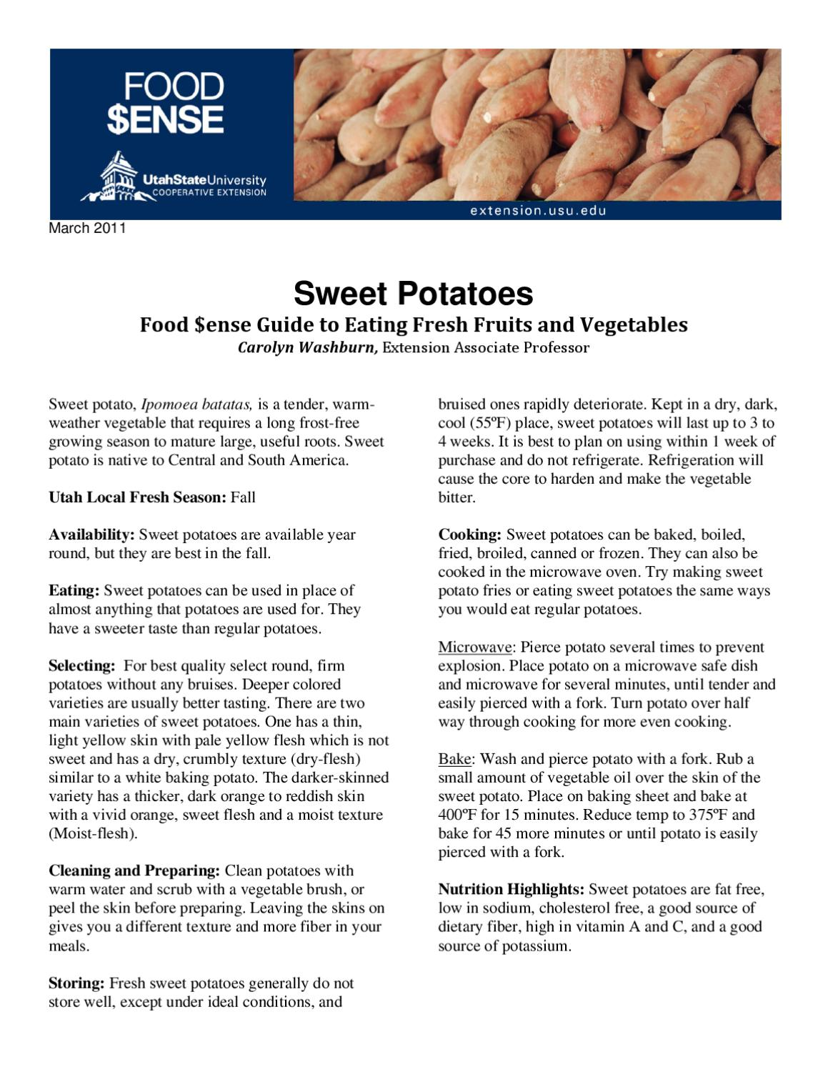 Sweet Potatoes by Utah State University Extension - issuu