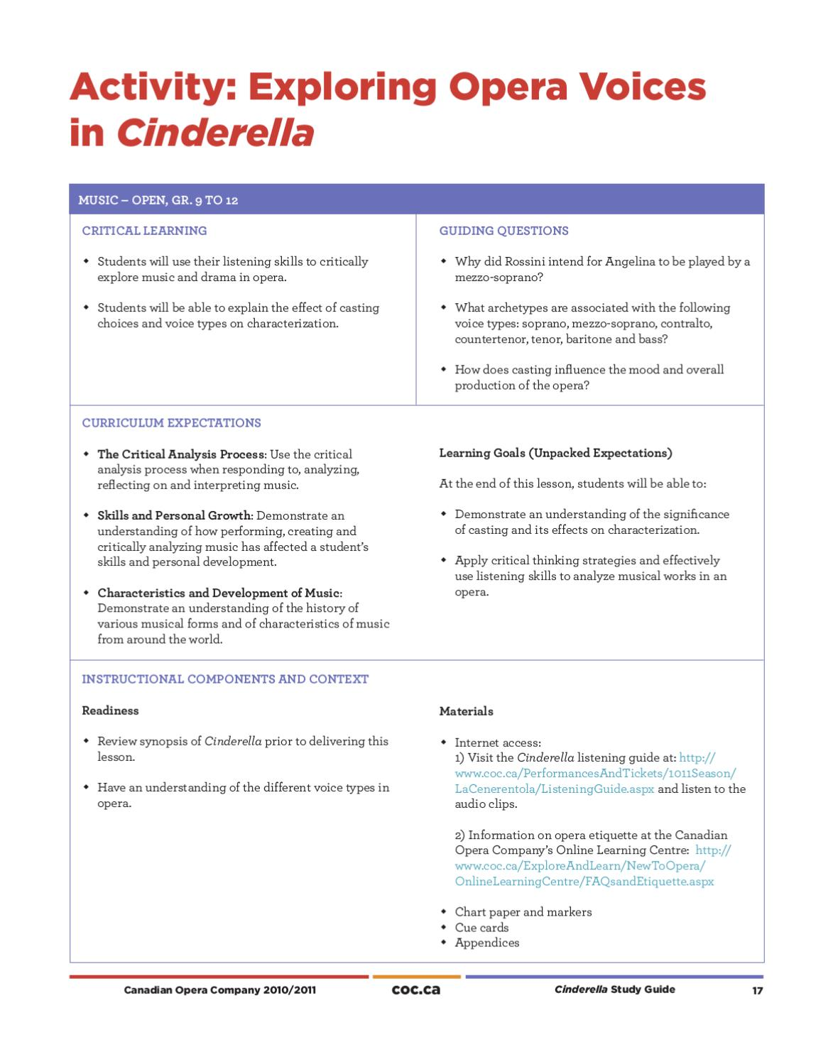 Cinderella Study Guide by Canadian Opera Company - issuu