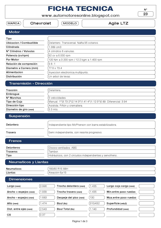 chevrolet agile ltz by automotores online