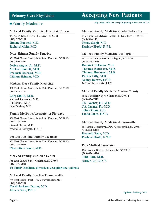 McLeod News -- Feb-March 2011 by McLeod Health - issuu