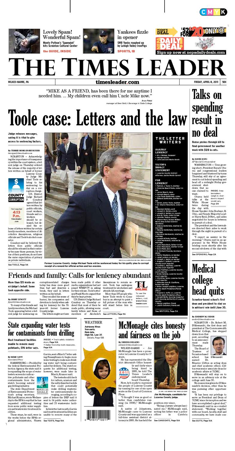 dd3e22e35e Times Leader 04-08-2011 by The Wilkes-Barre Publishing Company - issuu