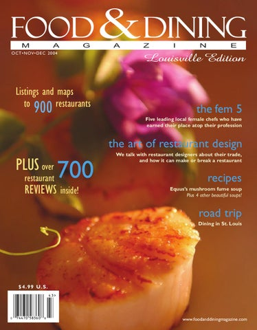 Fall 2004 (Vol  06) by Food & Dining Magazine - issuu