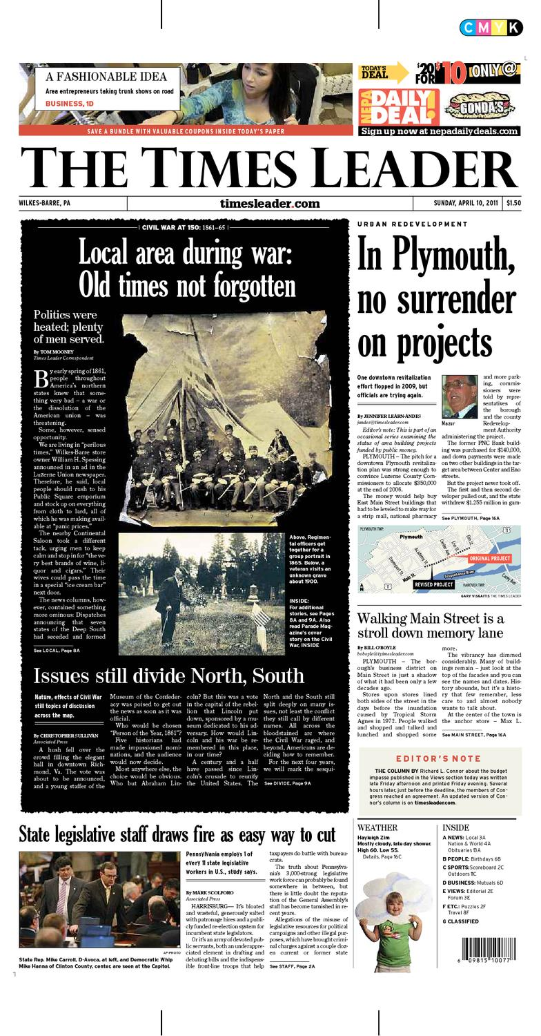 Times Leader 04 10 2011 by The Wilkes Barre Publishing