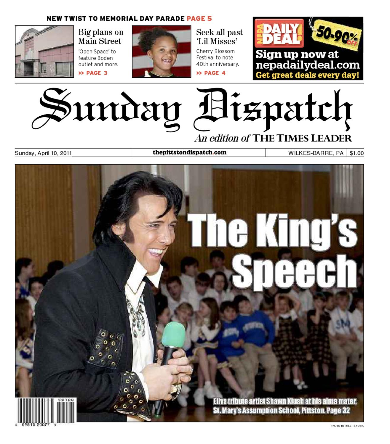 37a86d01be58 Pittston Sunday Dispatch 04-10-2011 by The Wilkes-Barre Publishing Company  - issuu