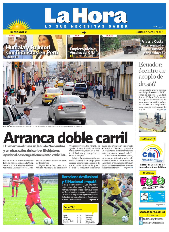 Diario La Hora Loja 11 de Abril 2011 by Diario La Hora Ecuador - issuu