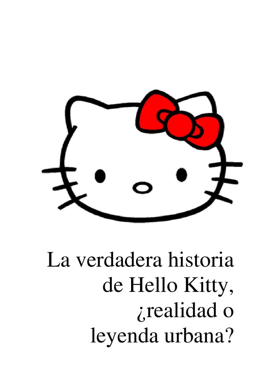 La Verdadera Historia De Hello Kitty By María Paola Gallo Issuu