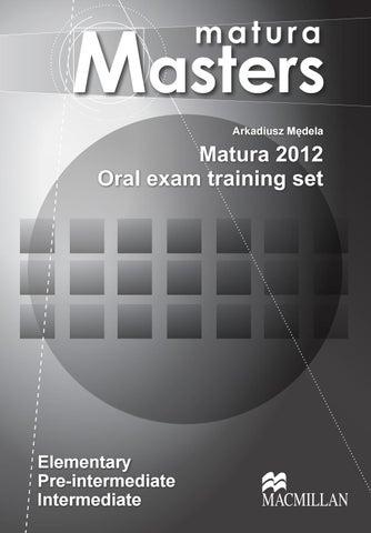matura masters matura 2012 oral exam training set pdf
