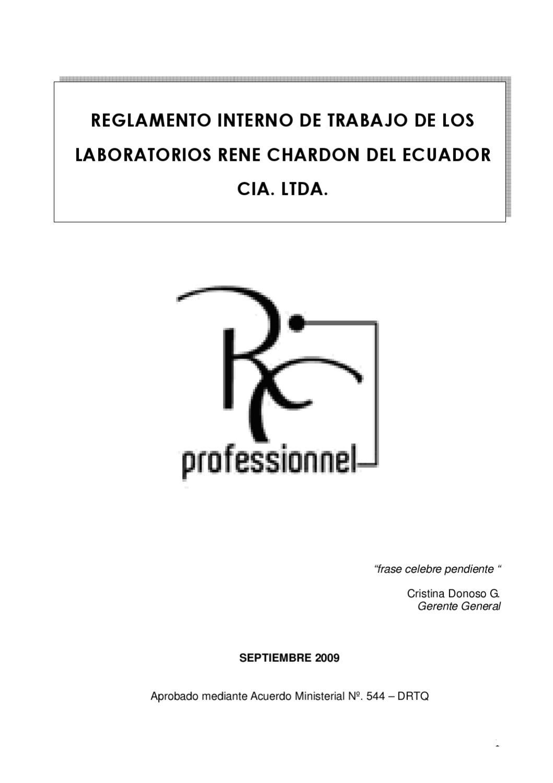 Reglamento Interno René Chardon by Jorge Luis - issuu