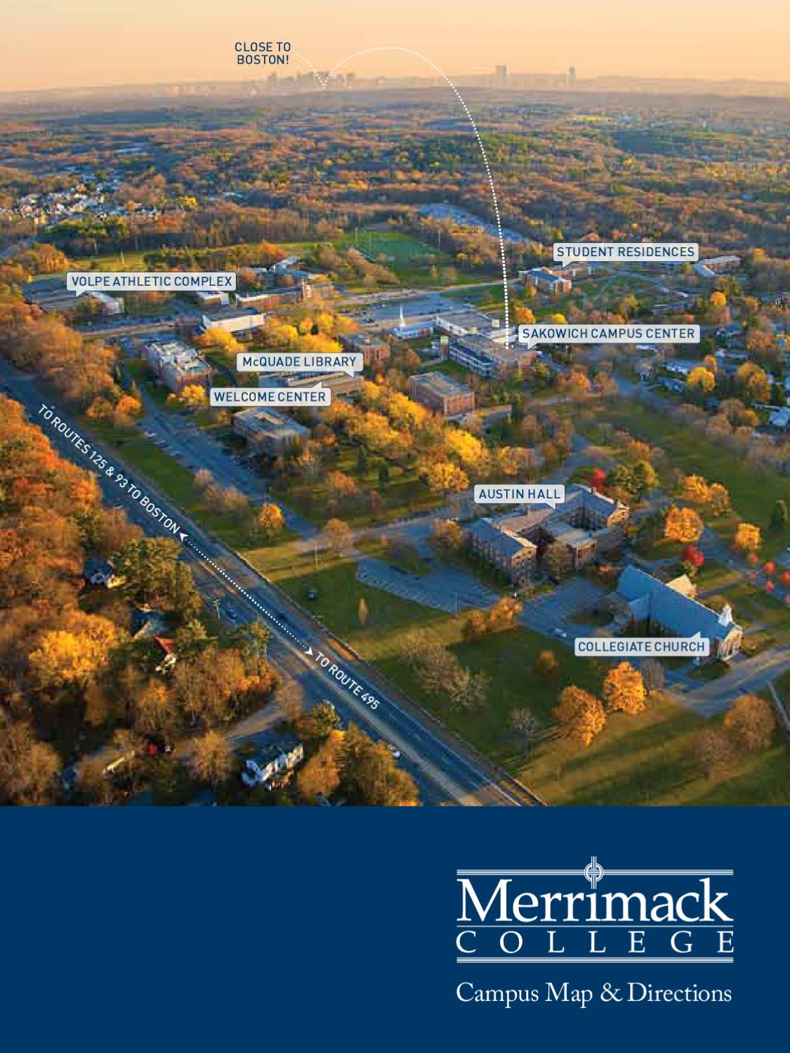 Merrimack College Map by Merrimack College   issuu