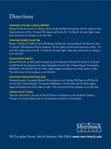 Merrimack College Map By Merrimack College Issuu