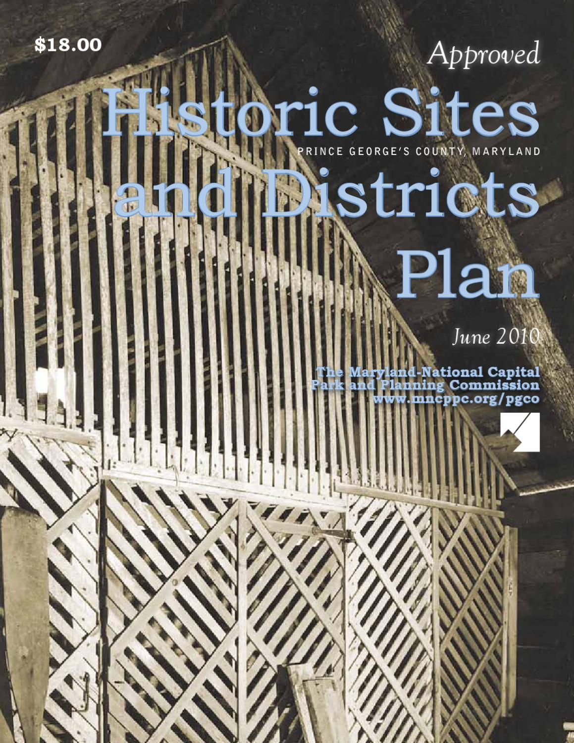 Approved Historic Sites and Districts Plan by Maryland-National Capital  Park & Planning Commission - issuu