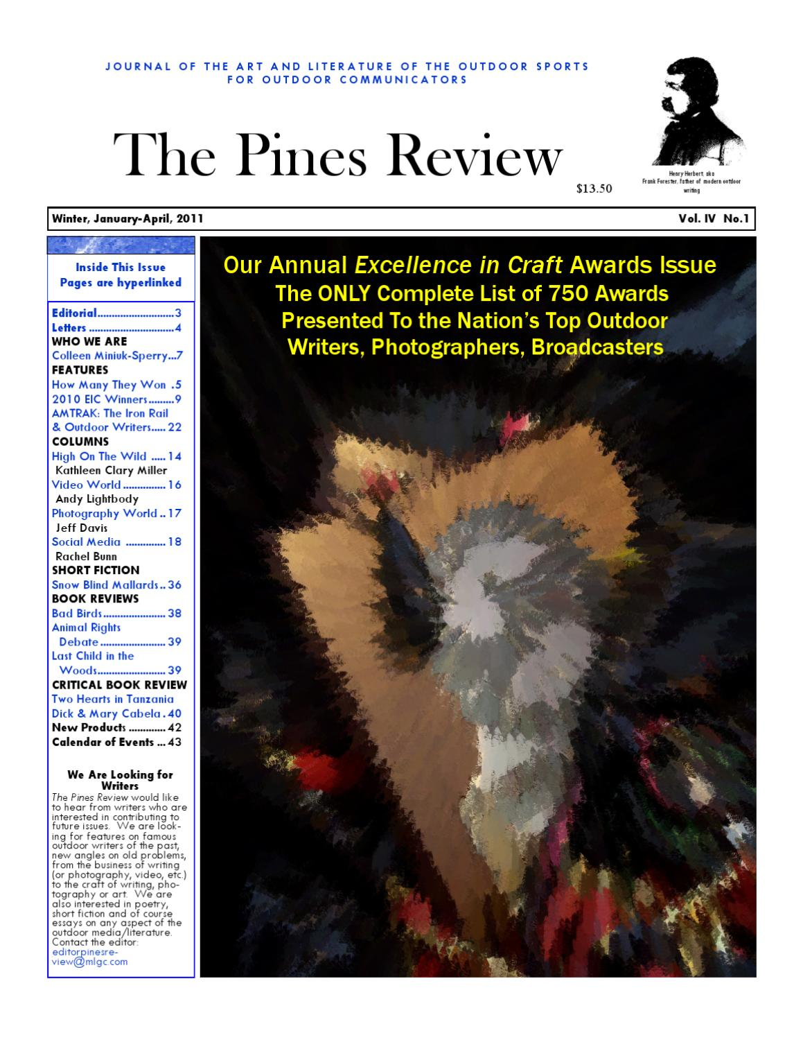 The Pines Review Vol. IV No 1 Winter 2011 Jan-April by Pen On Page ... 8bb370ca376f6