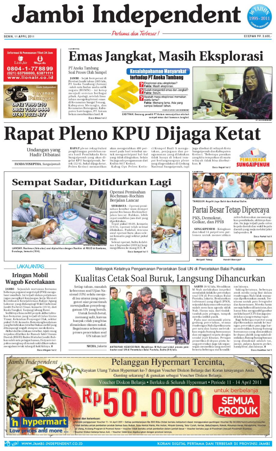 Jambi Independent 11 April 2011 By Jambi Independent Issuu