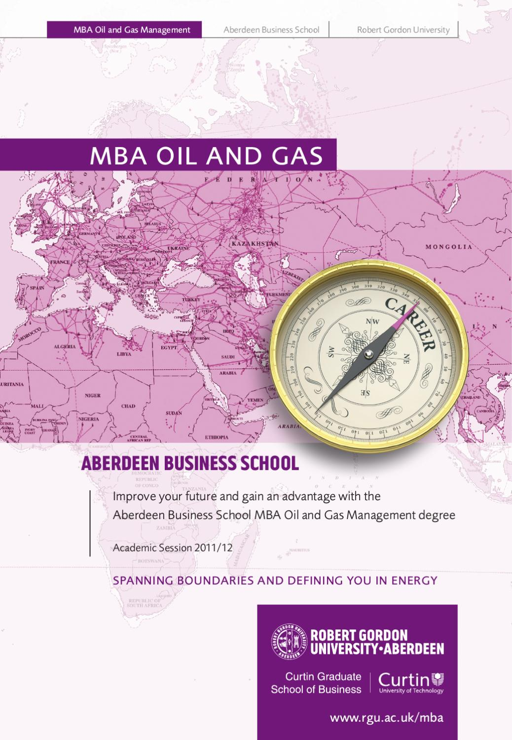 Mba Oil Gas Brochure By The Robert Gordon University Issuu