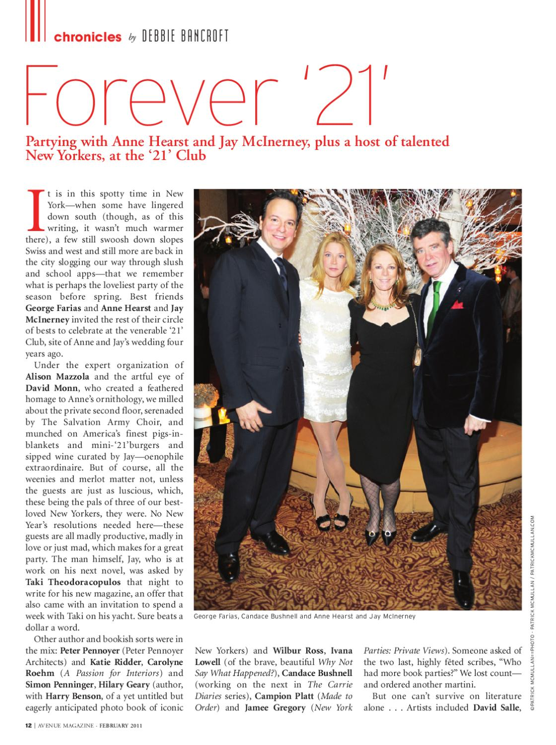 3f84d8a0 AVENUEinsider February 1, 2011 by AVENUE Magazine - issuu