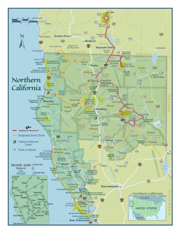 Southern Oregon Northern California Map By Shasta Cascade