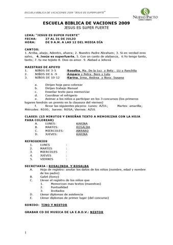 ESCUELA BIBLICA DE VACACIONES by maxyruth hernandez - issuu