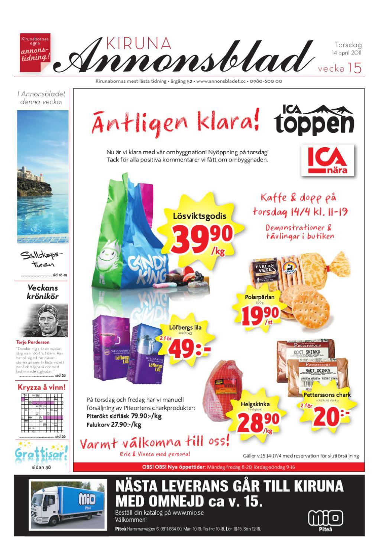 buy popular f7c9f 3cdcb Kiruna Annonsblad 2011 v.15 by Svenska Civildatalogerna AB - issuu