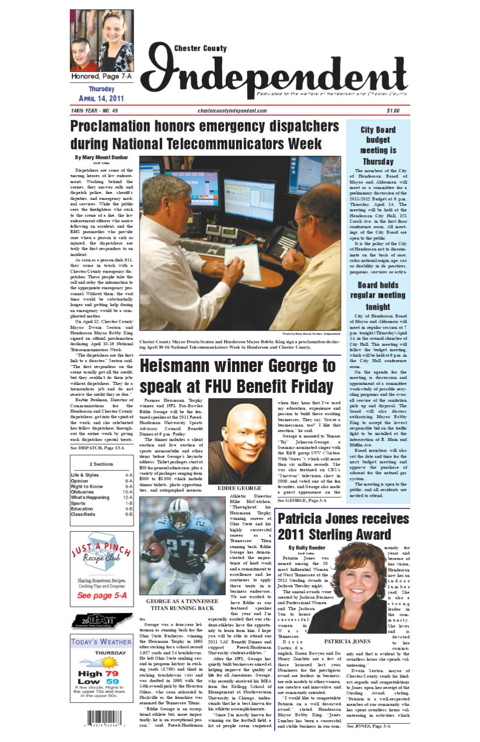 Tennessee chester county enville - Chester County Independent 04 14 11 By Chester County Independent Issuu