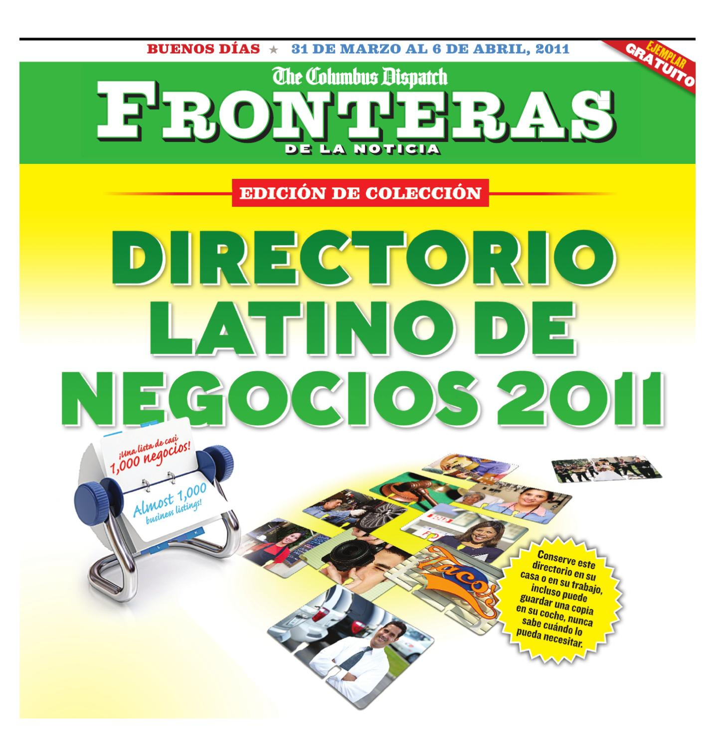 Fronteras Business Directory - March 2011 by The Columbus Dispatch - issuu