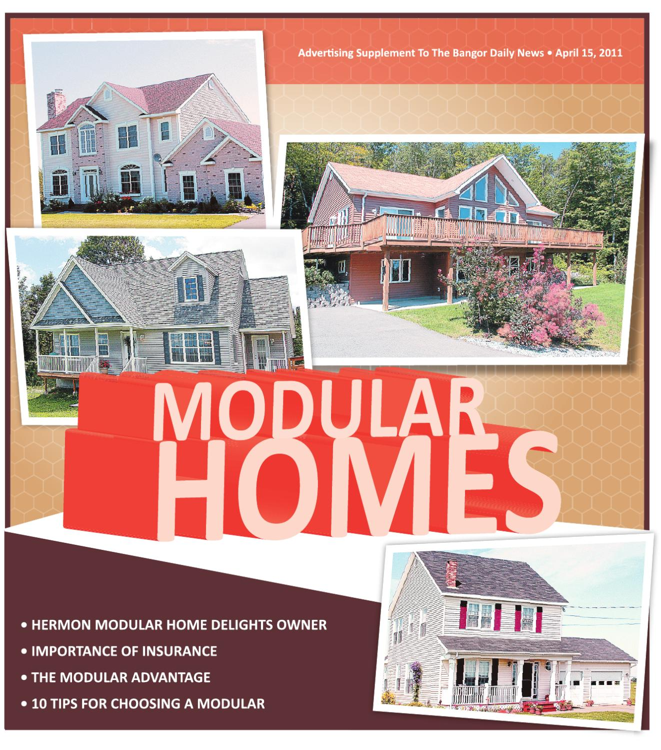Modular Homes, Spring 2011 By Bangor Daily News