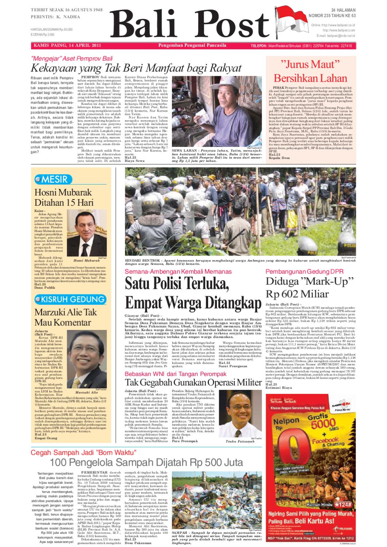Edisi 14 April 2011 Balipostcom By E Paper Kmb Issuu Penutup Toilet Duduk Otomatis Izen Ib 450