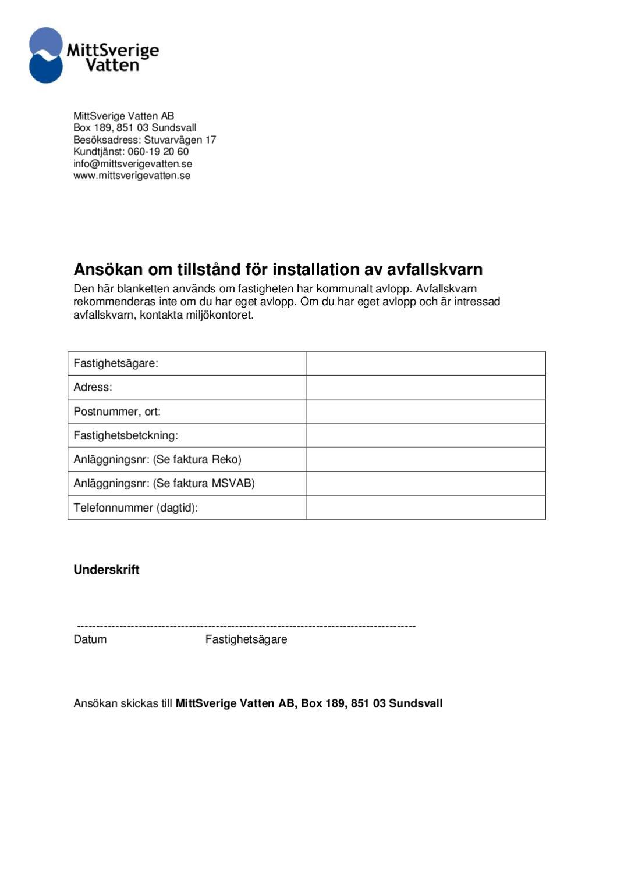 ansokan_sundsvall_nordanstig_timra by Uson Miljöteknik - issuu