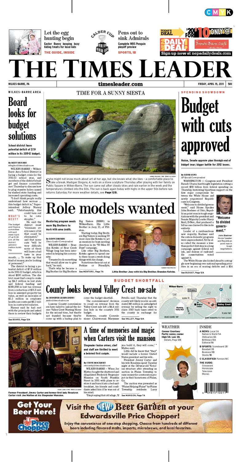 0f3976ee0b Times Leader 04-15-2011 by The Wilkes-Barre Publishing Company - issuu