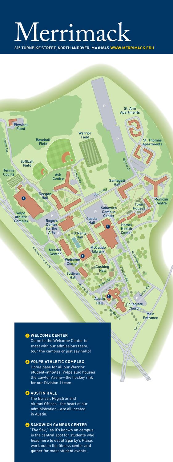 Merrimack College Campus Map by Merrimack College   issuu