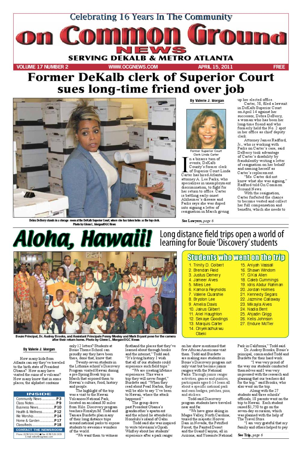 April 15 Issue By On Common Ground News Issuu