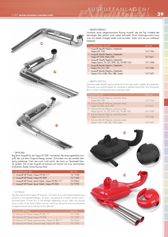 Vespa Katalog Update 2011 by SCOOTER CENTER GmbH - issuu