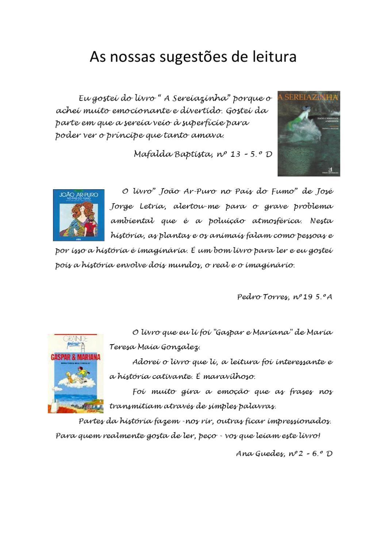 Sugestões De Leitura By Margarida Mota Issuu