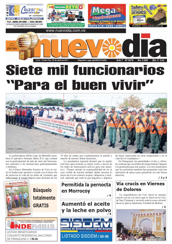 newest d510b 6cc02 Diario Nuevodia Sábado 16-04-2011 by Diario Nuevo Día - issuu