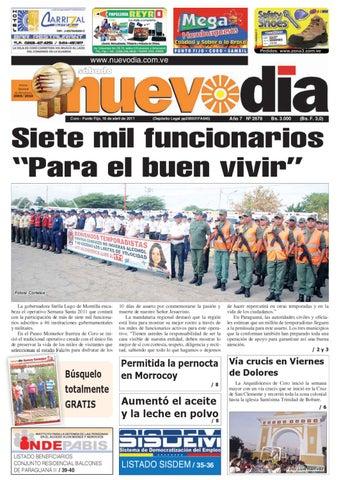 b6bacc10c84d9 Diario Nuevodia Sábado 16-04-2011 by Diario Nuevo Día - issuu