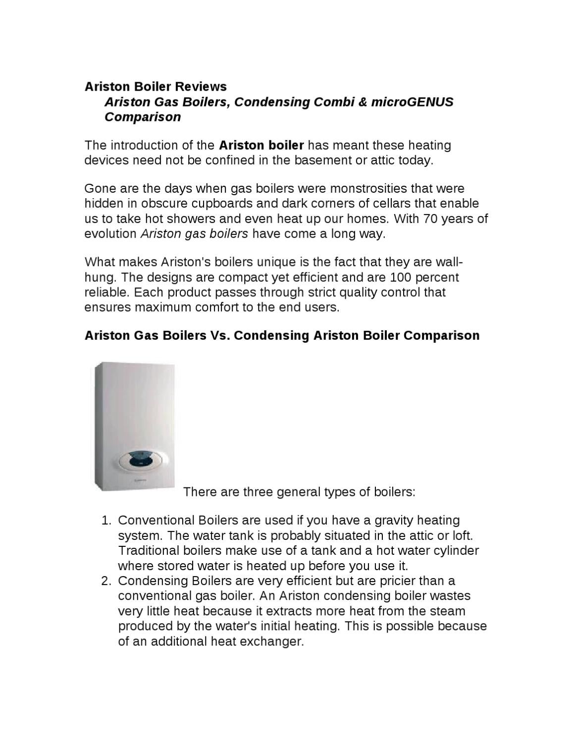 Gas boiler Ariston - a guarantee of warmth and comfort in the house