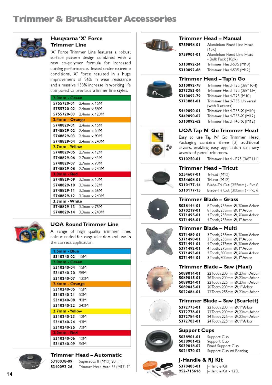 Husqvarna accessory catalogue 2011 - Australia by Husqvarna