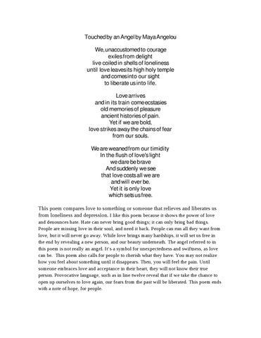 The Heart Of A Woman Maya Angelou Pdf