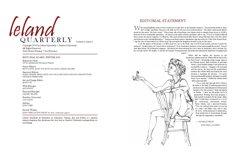 Leland Quarterly, Vol  3 Issue 2, Winter 2009 by Leland