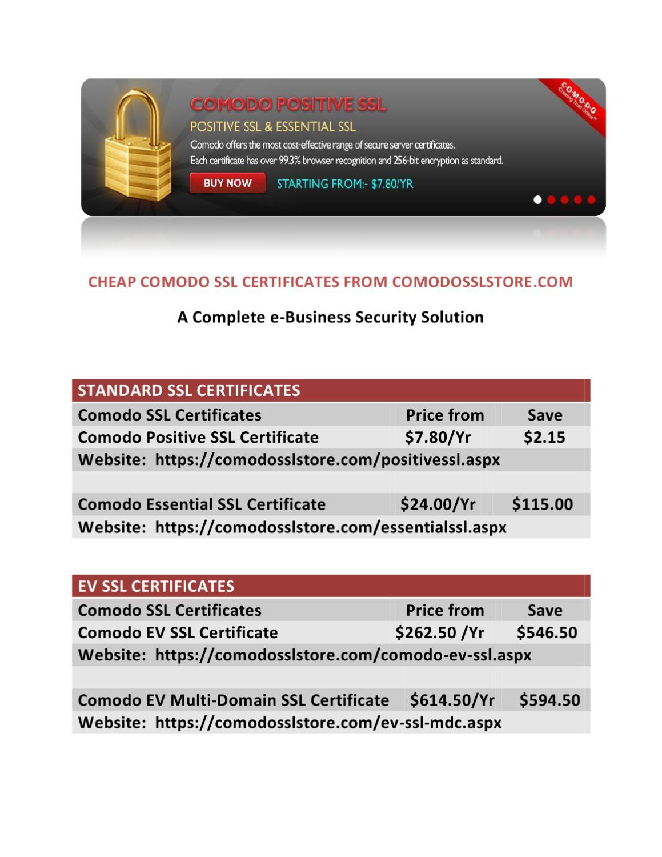 Cheap Comodo Ssl Certificates At Comodosslstore By Comodo Ssl