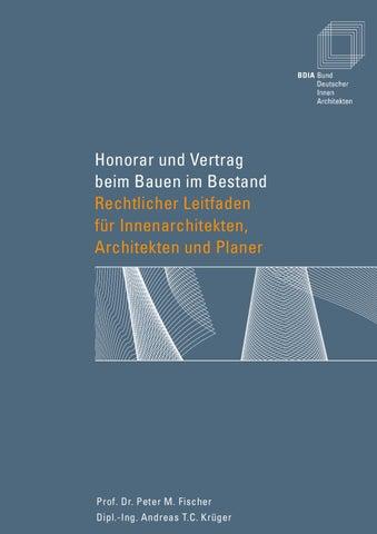 Honorar Innenarchitekt honorar und vertrag by hagenbucher issuu