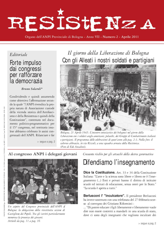 Resistenza n. 2 anno 2011 by ANPI Bologna - issuu e7c8f84e9b09