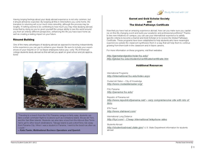 FSU IP Panama Student Guide by FSU International Programs - issuu